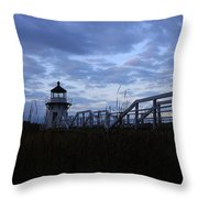 Daybreak At Doubling Point Light  Throw Pillow