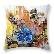 First Light In The Garden Of Eden Throw Pillow