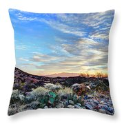 First Light In Valley Of Fire Throw Pillow