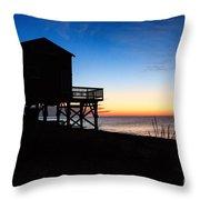 First Light On Beach Road, Falmouth Throw Pillow