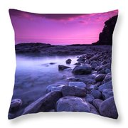 First Light On The Rocks At Indian Head Cove Throw Pillow