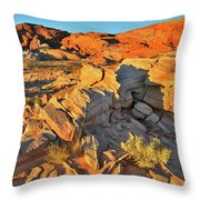 First Light On Valley Of Fire State Park Throw Pillow