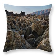 First Light Over Alabama Hills California Throw Pillow
