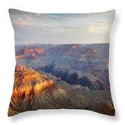 First Light Over Grand Canyon, Arizona, Usa Throw Pillow