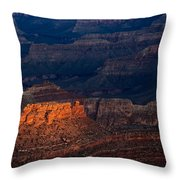 First Light Over Yavapai Point  Grand Canyon Throw Pillow
