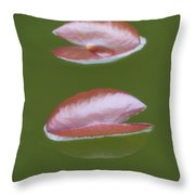 First Lily Pads - Brush Strokes Throw Pillow