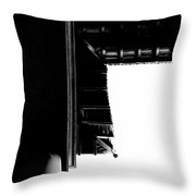 First Line Days Throw Pillow