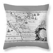 First Map Of Louisiana Throw Pillow