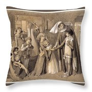 First Meeting With Beatrice Throw Pillow