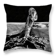 First Men On The Moon Throw Pillow
