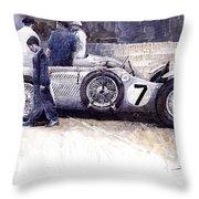 First Met Up Talbot Lago Le Mans 1950 Throw Pillow by Yuriy  Shevchuk