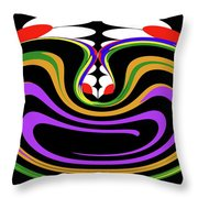 First Move Abstract Throw Pillow