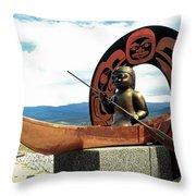 First Nation Sculpture Throw Pillow