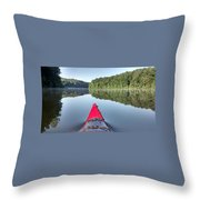 First On The Water Throw Pillow