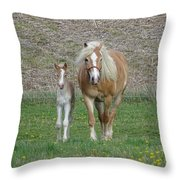 First Outing Throw Pillow