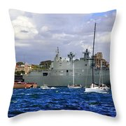 First Peak At Australia's Newest Warship Throw Pillow