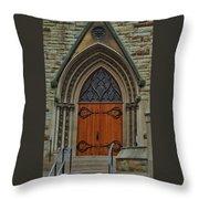 First Presbyterian Church Door Throw Pillow