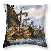 First Punic War Battle Throw Pillow