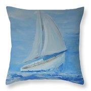 First Sail Throw Pillow
