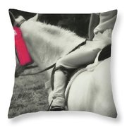 First Show Red Throw Pillow