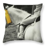 First Show Yellow Throw Pillow