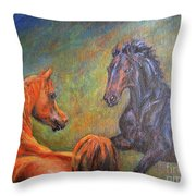 First Sight Throw Pillow