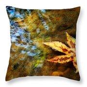 First Sign Of Fall Throw Pillow by Sari Sauls