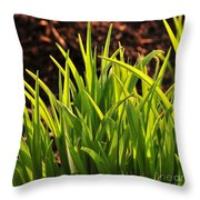 First Signs Of Life Throw Pillow