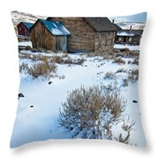 First Snow  Bodie Throw Pillow