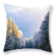 First Snow Fall  Throw Pillow