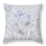 First Snow In The Field Throw Pillow