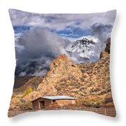 First Snow On The Hills Throw Pillow