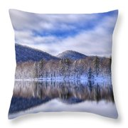 First Snow On West Lake Throw Pillow