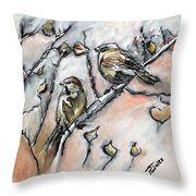 First Sure Sign Of Spring Throw Pillow