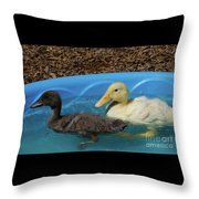 First Swimming Lesson Throw Pillow