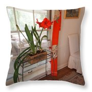 First There Was Red Throw Pillow