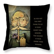 First Thing To Go - Poster Throw Pillow
