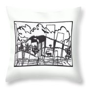 First Time In A City 1 Throw Pillow
