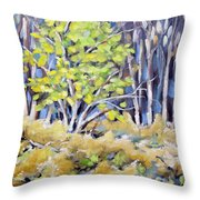 First Touch Of Spring Throw Pillow