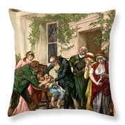 First Vaccination, 1796 Throw Pillow