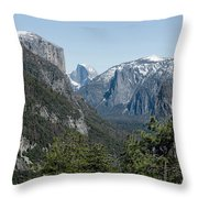 First View Of Yosemite Valley Throw Pillow