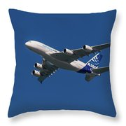 Firts Airbus A380 Throw Pillow
