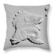 Fish And Bubbles Throw Pillow