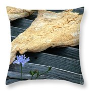 Fish And Flowers Throw Pillow