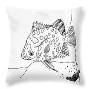 Fish And Rock Throw Pillow
