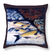 Fish And Shellfish Throw Pillow