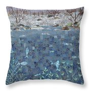 Fish And Winter Throw Pillow