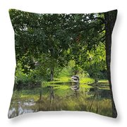 Fish Are Waiting Throw Pillow