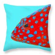 Fish Art - Strawberry Grouper Throw Pillow