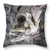 Fish Bones Throw Pillow